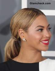 beyonce sports classy ponytail