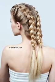 make two row dutch braids