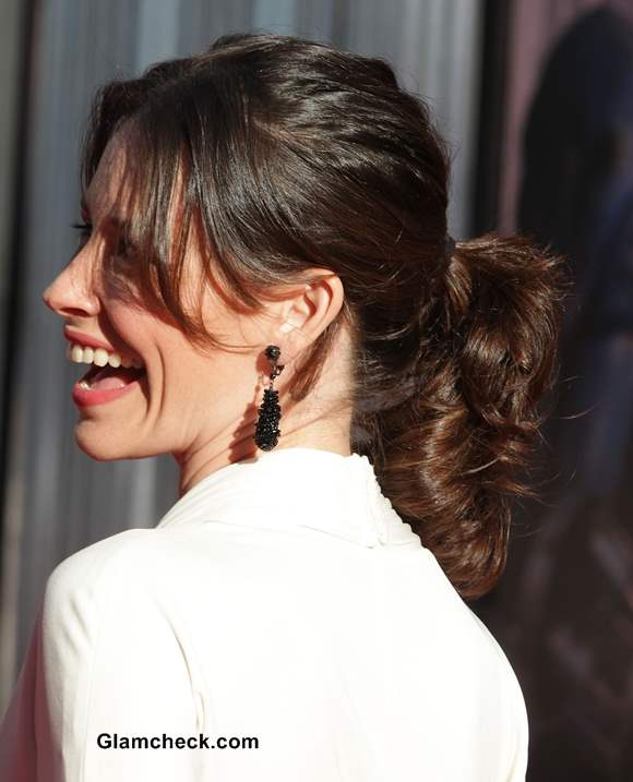 Casual Ponytail Hairstyle At A Formal Event Evangeline