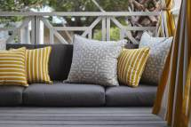 Grey and Yellow Outdoor Chair Cushions