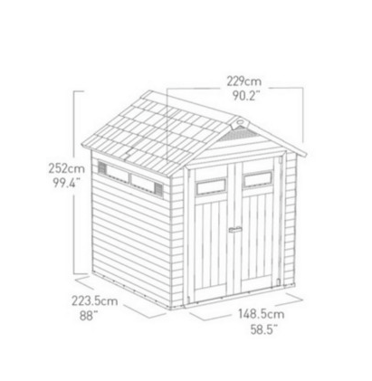 Keter Fusion 757 RRP £1100 BENEFITS This truly unique shed
