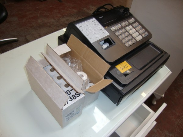 Casio Electronic Cash Register Model 140cr 2 Boxes Of Roll