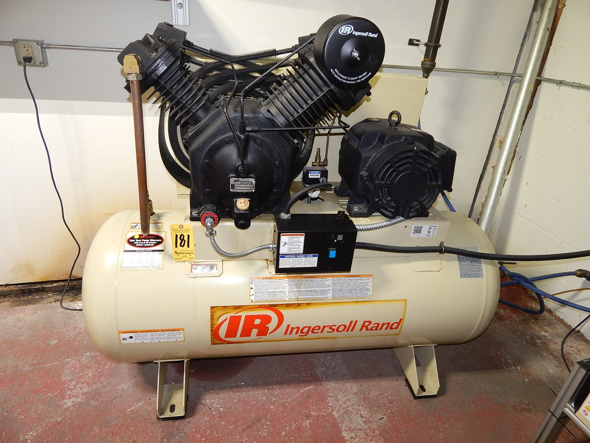 hight resolution of  schematic ingersoll rand model 7100e15 2 stage tank mounted air compressor s on air compressor stage air compressor wiring