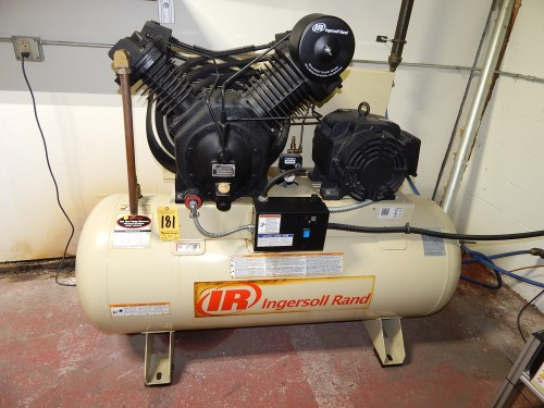 small resolution of  schematic ingersoll rand model 7100e15 2 stage tank mounted air compressor s on air compressor stage air compressor wiring