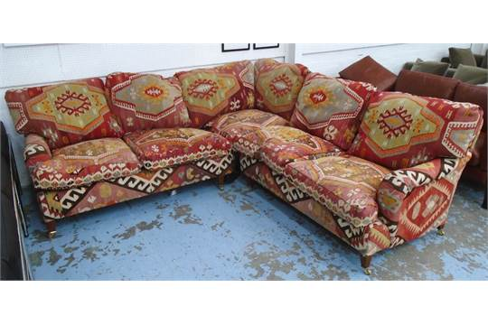 sofa 250cm naleigh expandable table george smith corner with kilim upholstery in two sections x 246cm faults