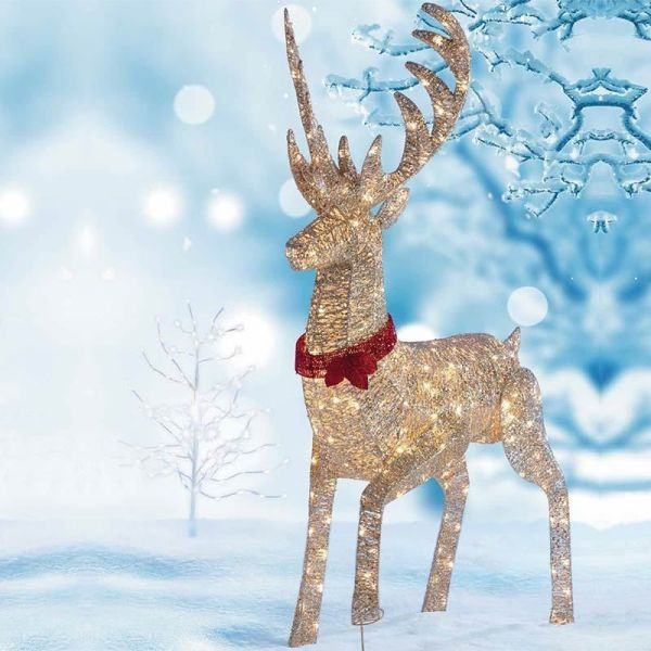 led lighted outdoor reindeer christmas decoration - Outside Reindeer Christmas Decorations