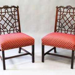 Chinese Chippendale Chairs Uk Thomas Tank Potty Chair A Good Pair Of Mahogany Single