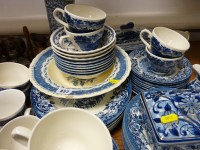 Good quality blue and white dinnerware, Wood & Sons ...