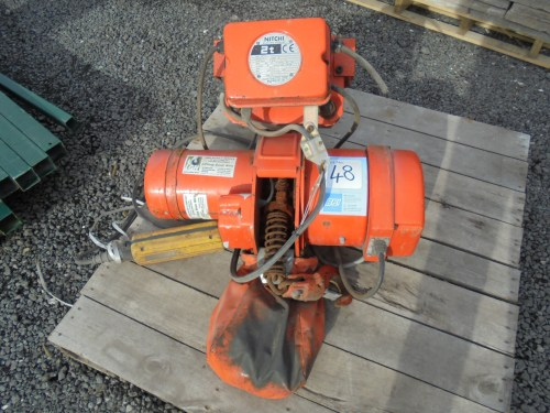 small resolution of lot 48 nitch mh 5 electric chain hoist capacity 2 ton c