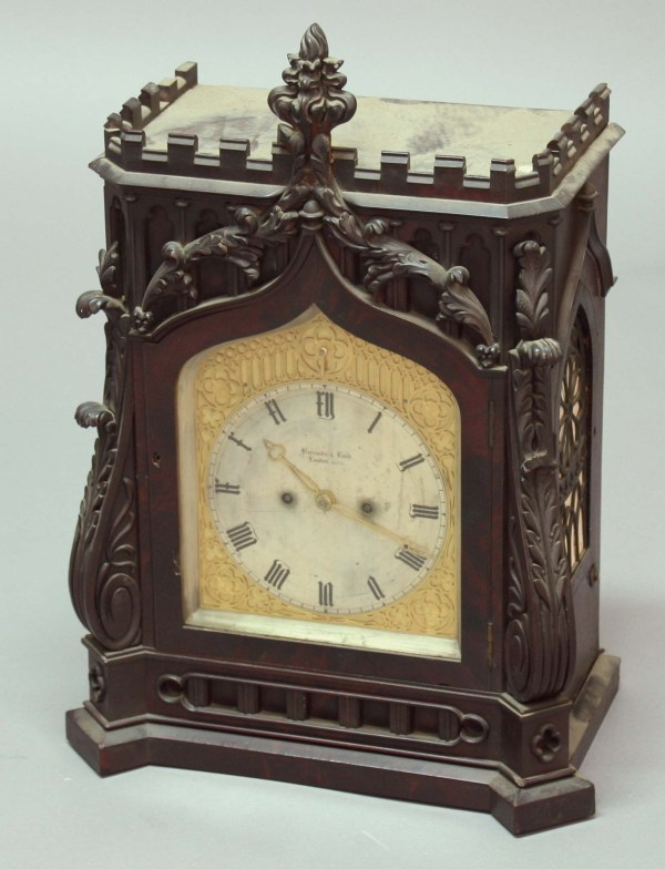 Victorian Gothic Mantel Clock Barrands And Lund