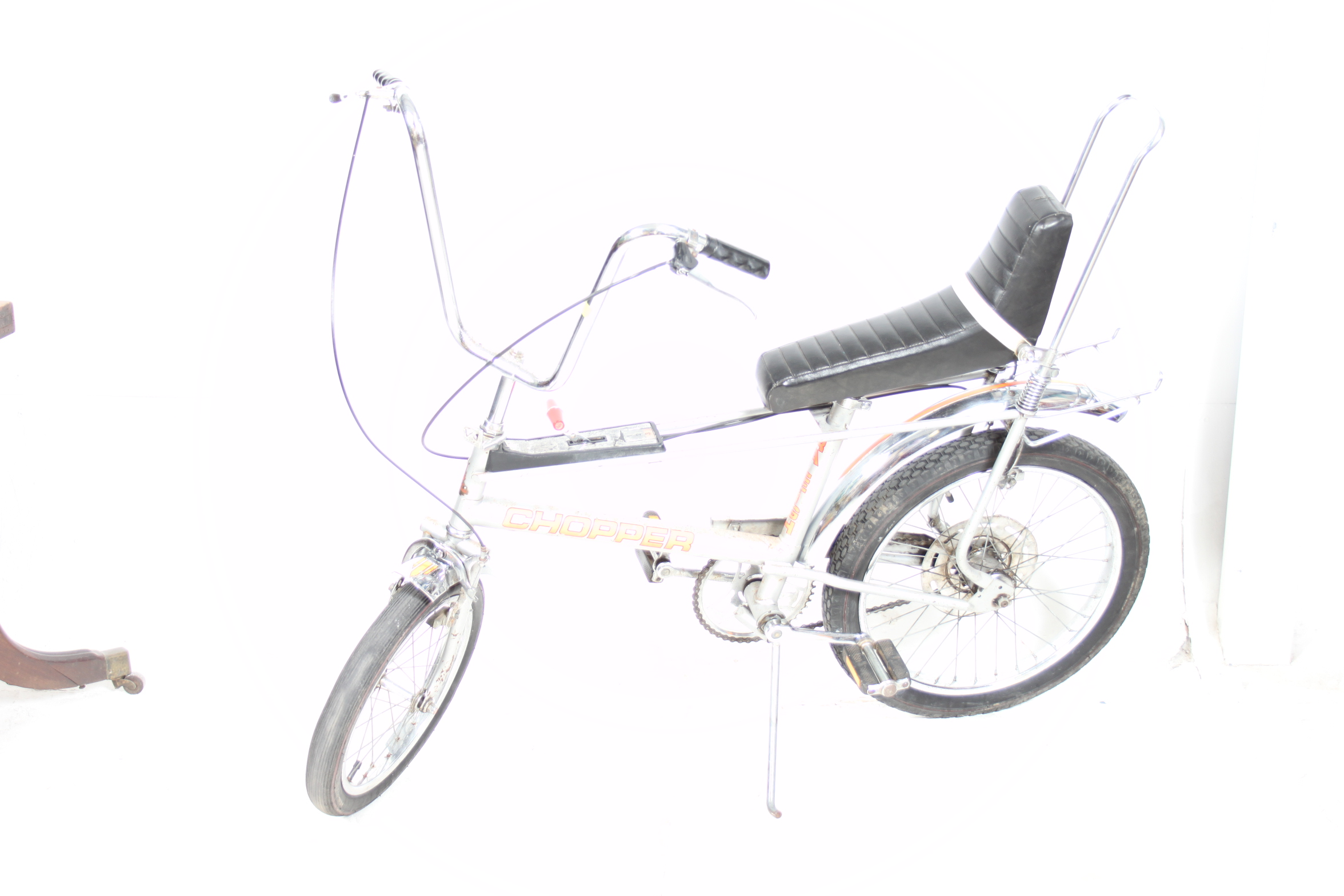1970s Mk 2 Raleigh Chopper Bicycle ( 1977 ) chrome, 3