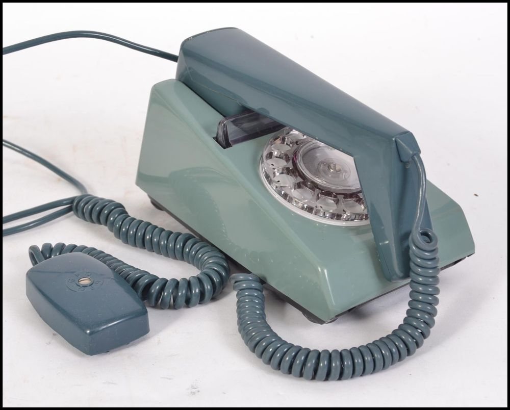 medium resolution of lot 292 a retro trim phone circa 1970 with rotary dial on an unusual teal