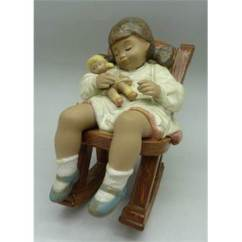 Rocking Chair Height Portable Salon A Lladro Figure 2322 Naptime Girl In 12 5cm Auction Date