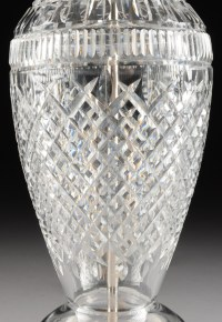 "A WATERFORD CLEAR CRYSTAL TABLE LAMP, ""TRAMORE"" PATTERN ..."