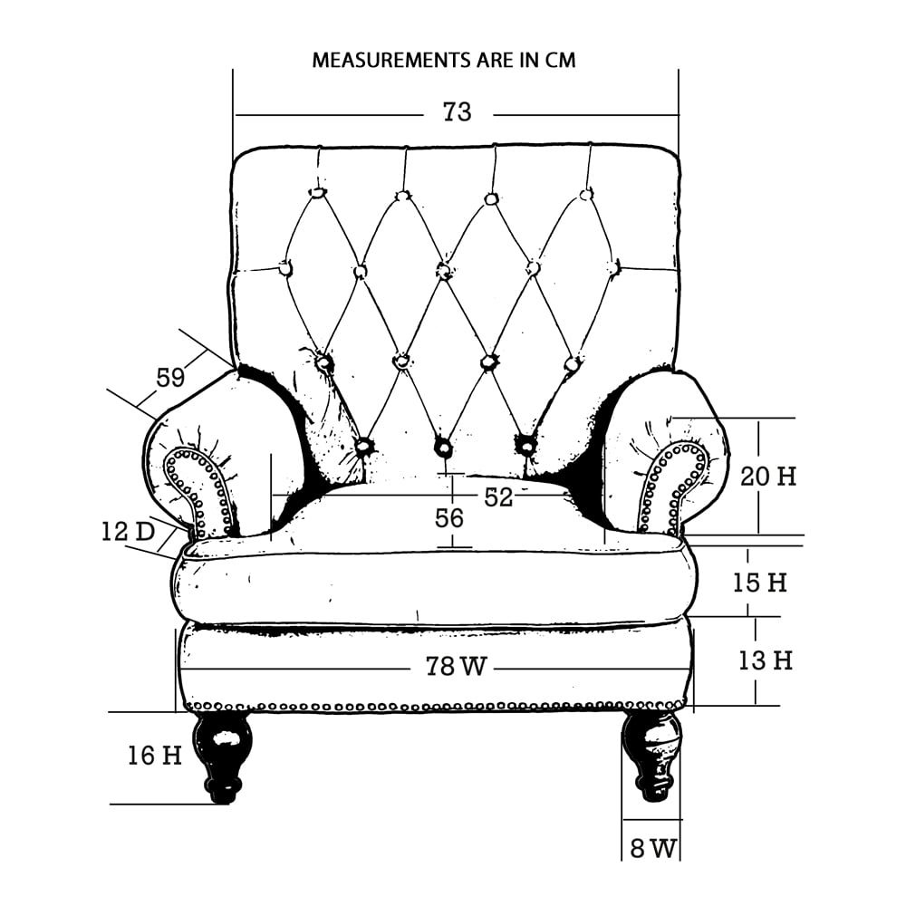 Story High Back Leather Armchair The Story chair was