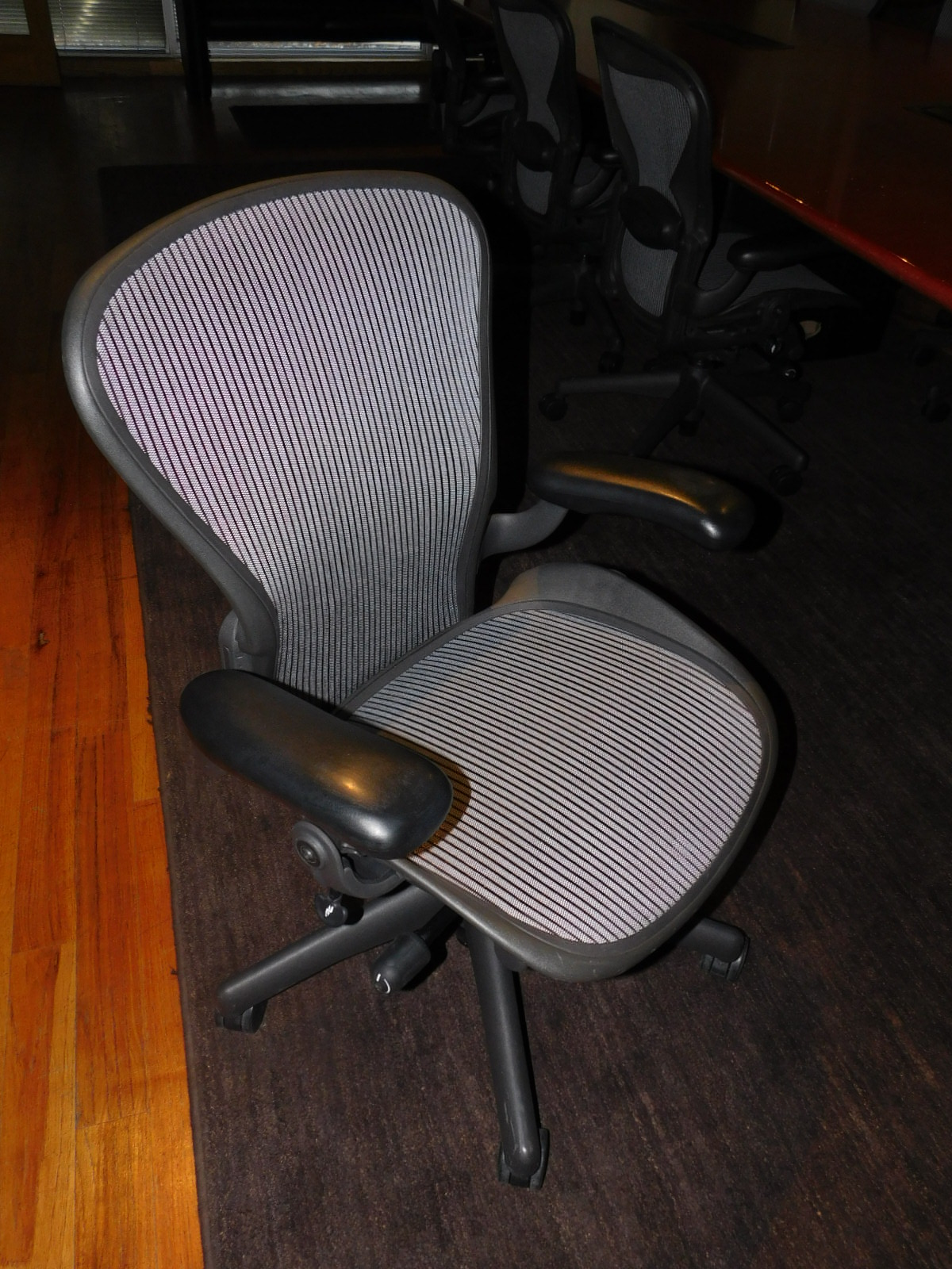 white aeron chair sofa covers herman miller executive task or conference room