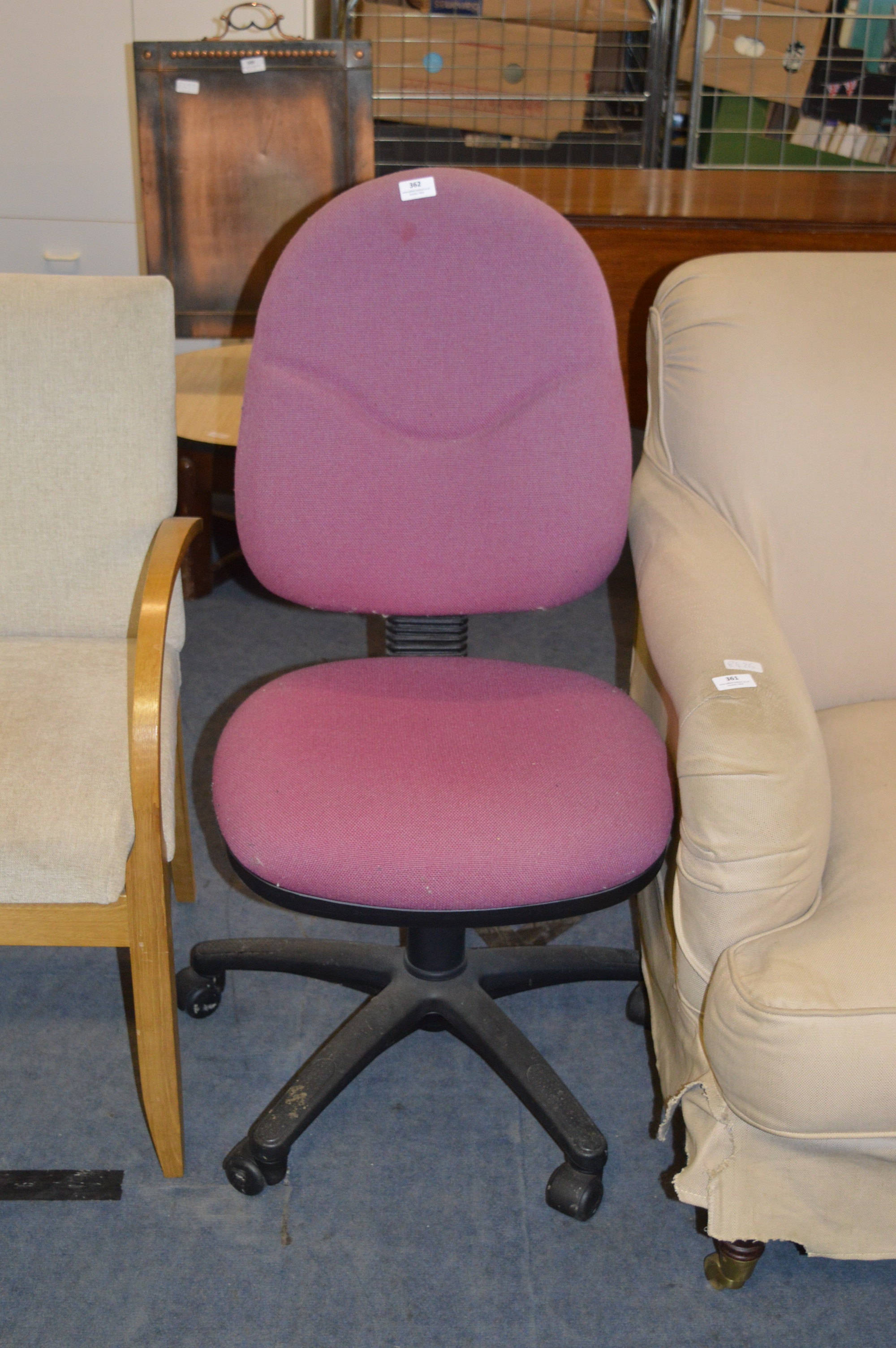 Pink Upholstered Chair Pink Upholstered Swivel Office Chair