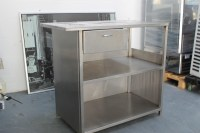 Stainless Steel Table with Drawer & Undershelf 103 cm x ...