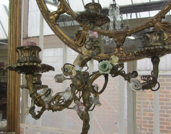 A gilt bronze five branch candelabra, early 20th century ...