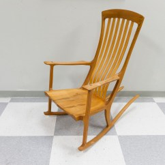 Ergonomic Rocking Chairs Dining Chair Covers Cork Robert Erickson Handcrafted South Yuba Wooden