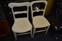 Two Painted Edwardian Chairs