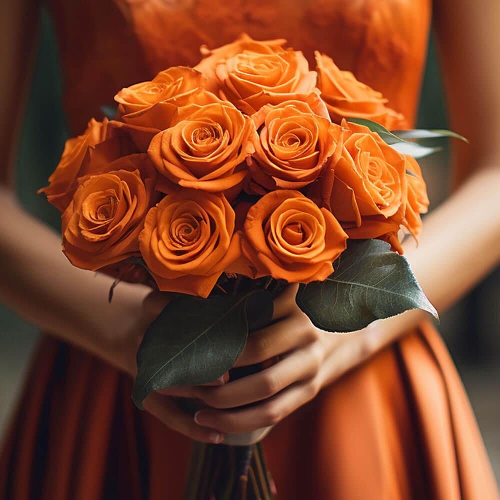 fresh orange romantic rose