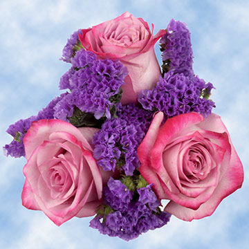 purple flowers bouquet lavender
