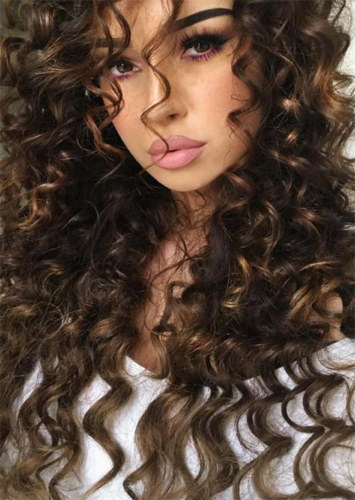 51 Chic Long Curly Hairstyles How to Style Curly Hair  Glowsly