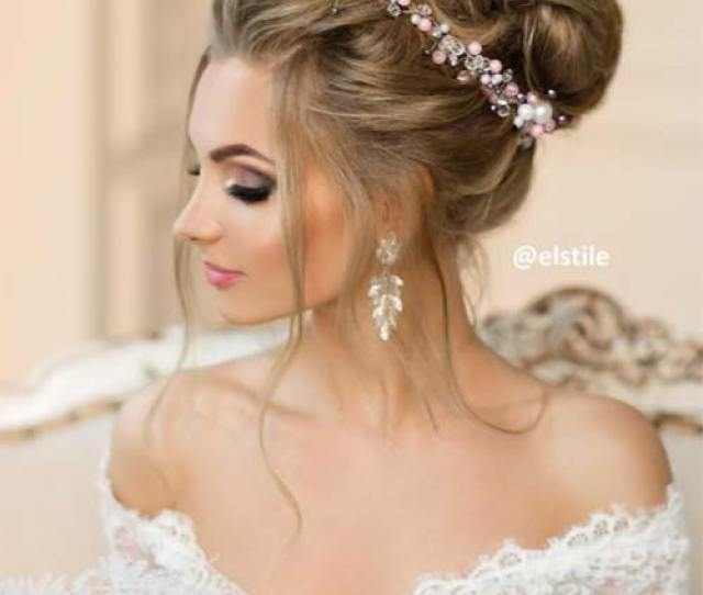 Bridal Wedding Updos Hairstyles Woven Faux Beehive Wedding Updo