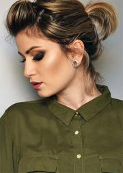 creative updos short hair