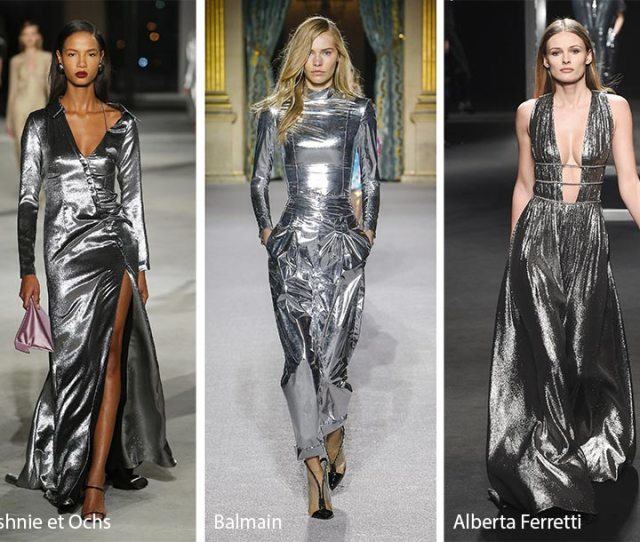 Fall Winter 2018 2019 Color Trends Metallic Silver