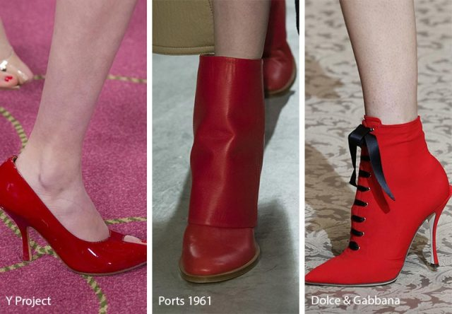 Fall/ Winter 2018-2019 Shoe Trends: Red Shoes & Boots