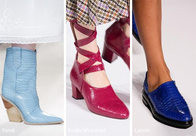 Fall/ Winter 2018-2019 Shoe Trends: Reptile Skin Shoes & Boots