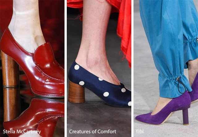 Fall/ Winter 2018-2019 Shoe Trends: Shoes & Boots with Cylindrical Heels