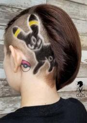 badass undercut hair tattoos
