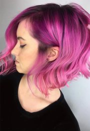 lovely pink hair colors tips