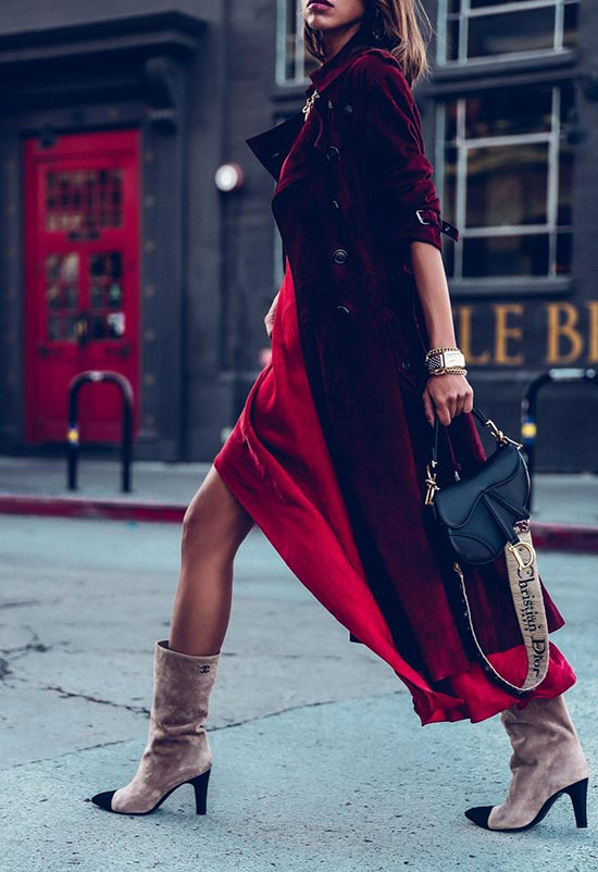 How to Style a Slip Dress in Fall and Winter