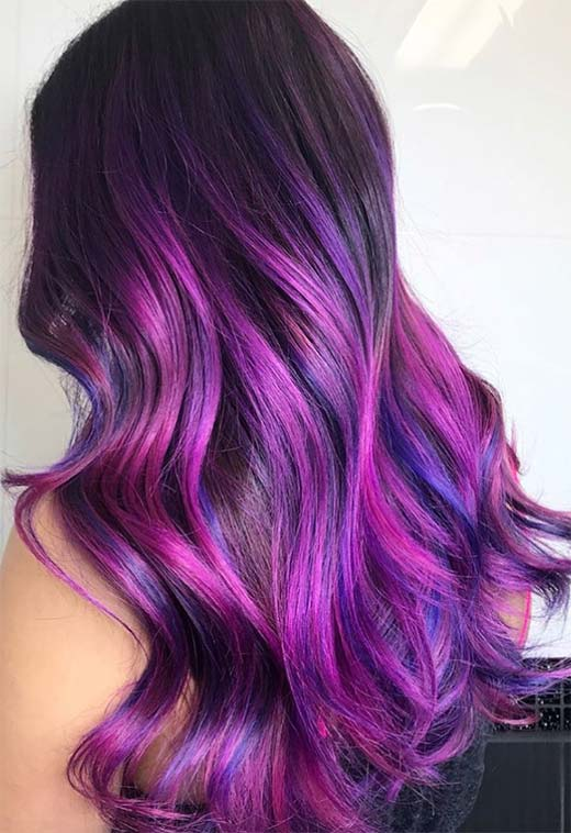 purple hair color tips