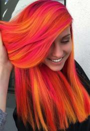 fiery orange hair color shades