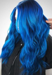 iridescent blue hair color shades