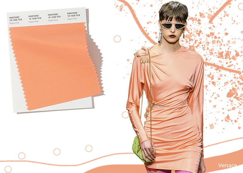 Image result for FASHION PANTONE PEACH PINK