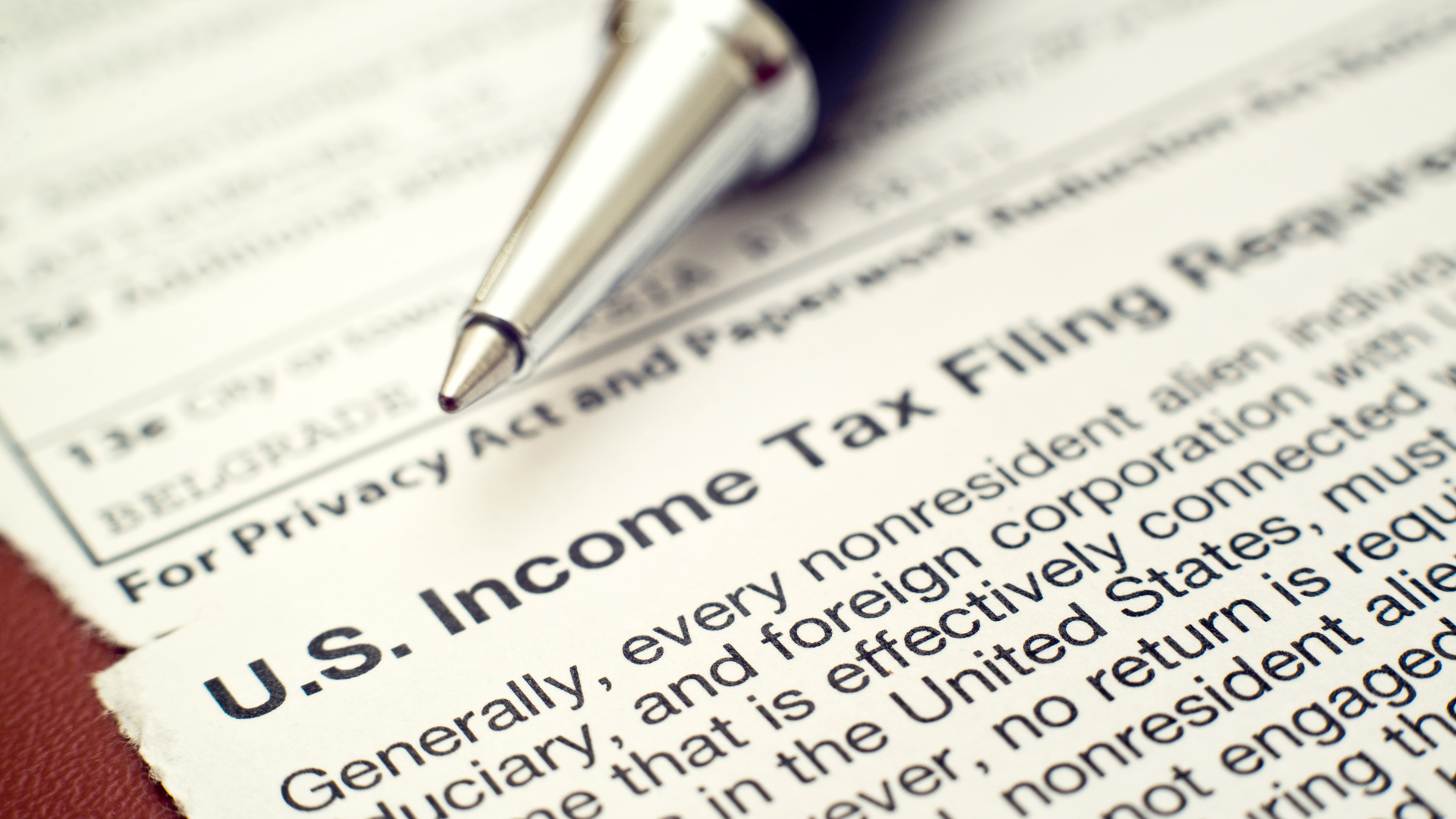 Foreign Earned Income Tax Worksheet