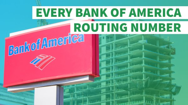 Bank America Routing Number