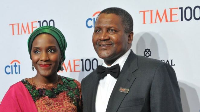NEW YORK, NY - APRIL 29:  Halima Dangote (L) and Honoree Aliko Dangote attend the TIME 100 Gala, TIME's 100 most influential people in the world, at Jazz at Lincoln Center on April 29, 2014 in New York City.