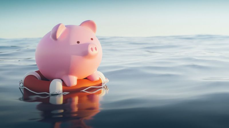 Piggy Bank on Life Boat