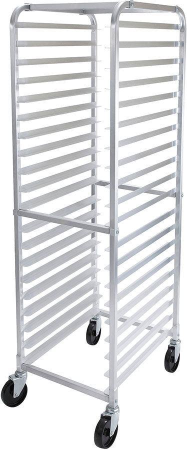 winco alrk 20 20 pan aluminum bun sheet pan rack end load unassembled