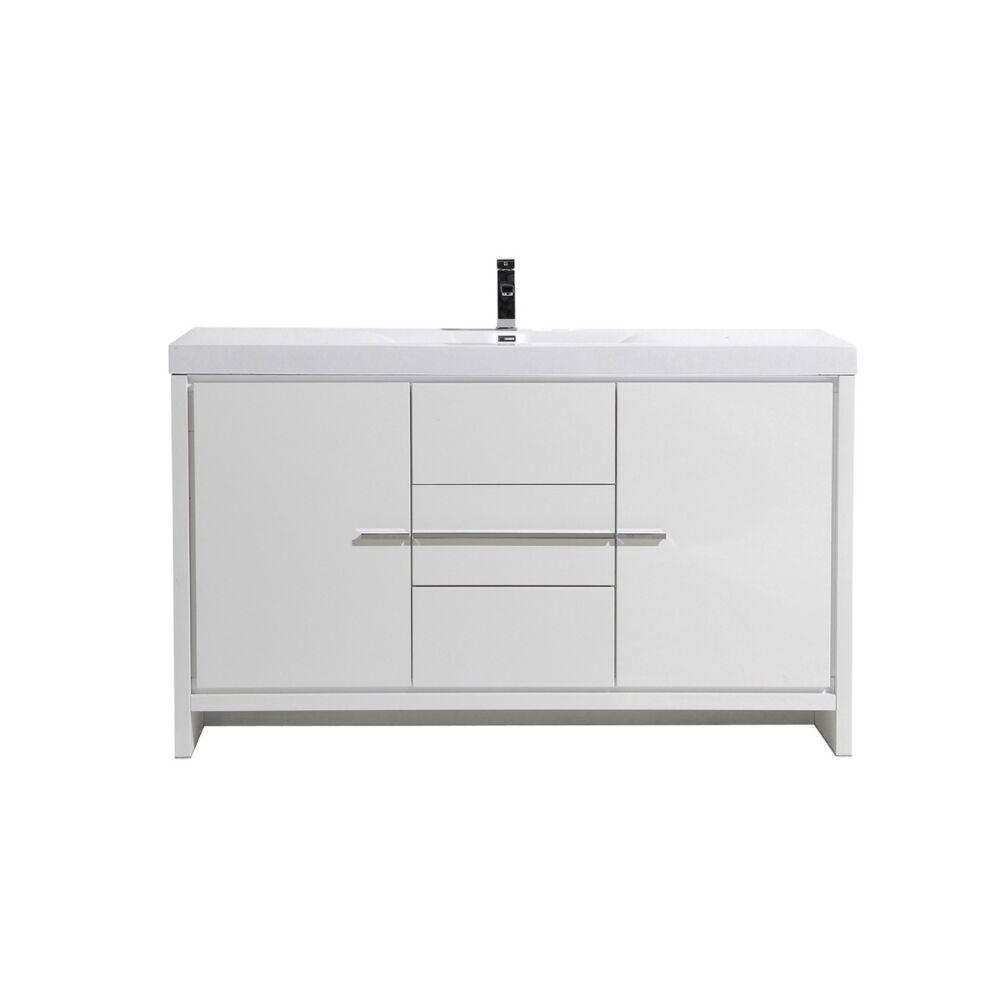 60 allier white single sink bathroom vanity