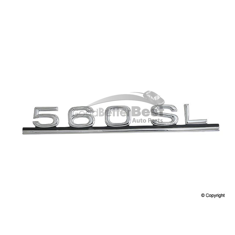 One New Genuine Deck Lid Emblem 1078171415 for Mercedes MB