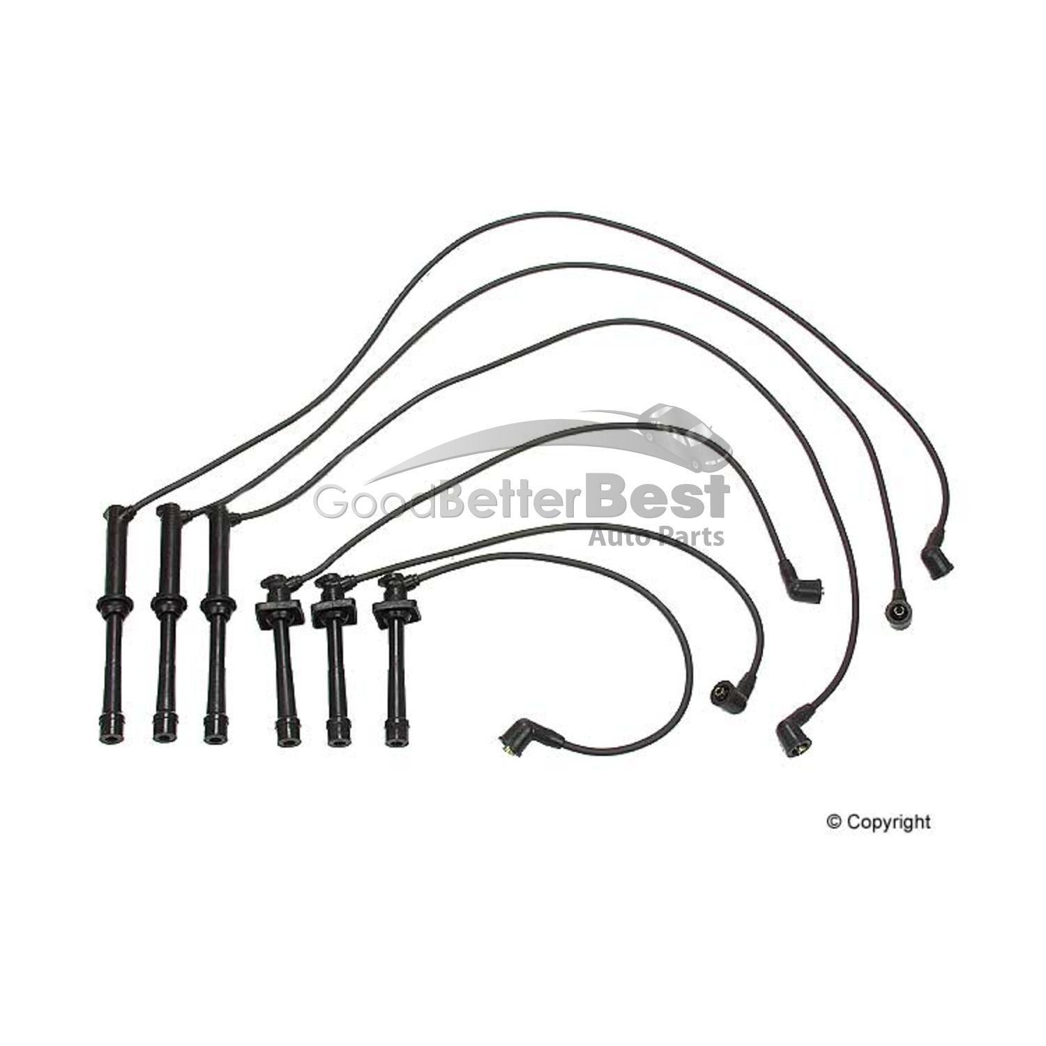 New OPparts Spark Plug Wire Set 3577501 for Mazda 626