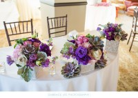 Sweetheart Table Decorated with Bohemian Bouquets - Bel ...